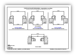 Porte de garage basculante facile poser axone spadone - Dimension porte de garage basculante ...
