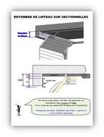 Portes de garage sectionnelles fiches techniques axone for Porte de garage sectionnelle sans linteau