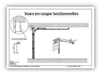 portes de garage sectionnelles fiches techniques axone