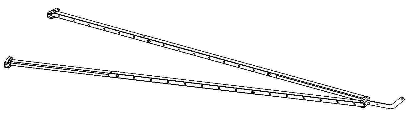 Mécanisme pour ouverture d'une porte de service à 2 vantaux motorisée
