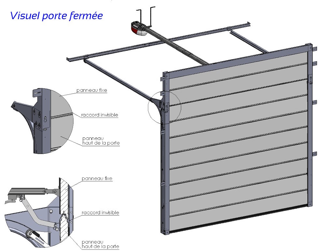 Rehausses de portes de garage sectionnelles les for Grande porte de garage sectionnelle