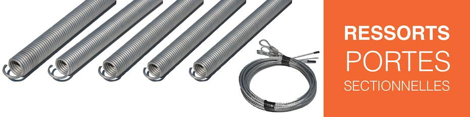 Ressorts et cables pour portes de garage