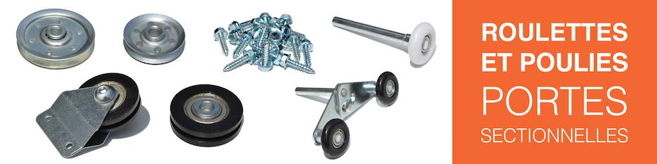 Roulettes et poulies nylon à gorge avec roulement à billes pour porte de garage sectionnelle